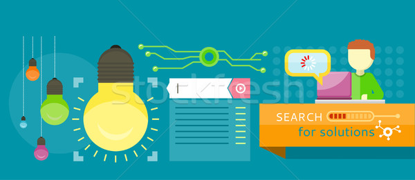 Search for solutions infographics Stock photo © robuart