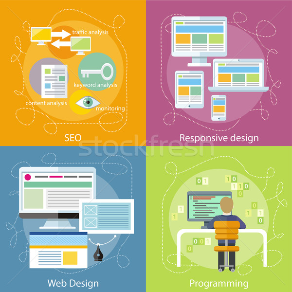Programmer, SEO and Responsive Web Design Stock photo © robuart