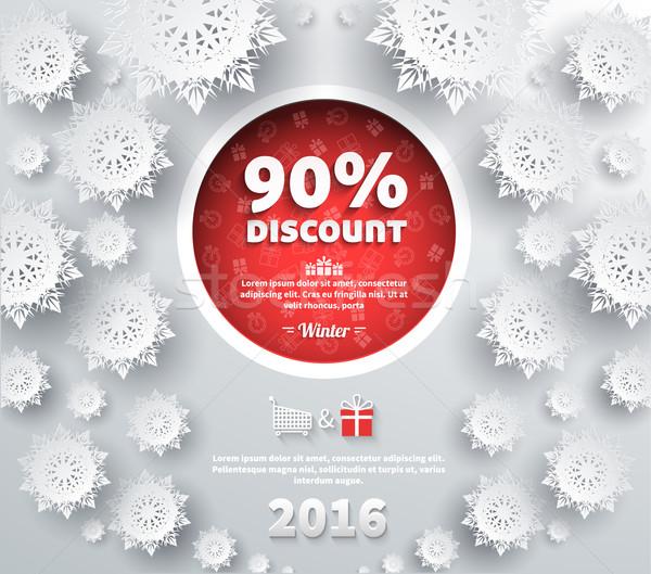 Tél árengedmény legjobb választás terv vásár utalvány Stock fotó © robuart