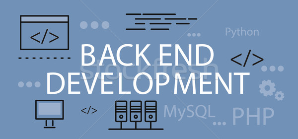 Back end Development Banner Concept Stock photo © robuart