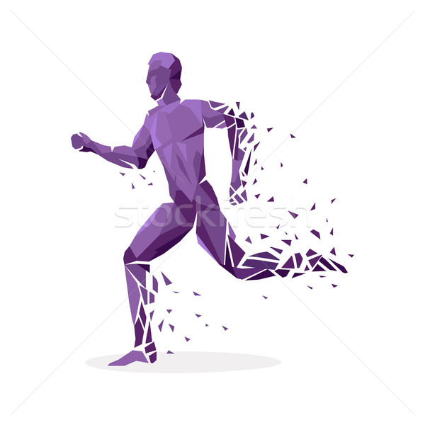 Geometric Particle Run Dance People Stock photo © robuart
