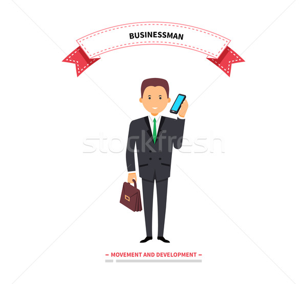 Businessman Speaking on a Phone Stock photo © robuart