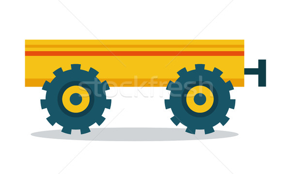 Trailer Vector Illustration in Flat Style Design. Stock photo © robuart