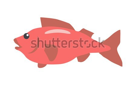 Rojo peces Cartoon vector aislado Foto stock © robuart