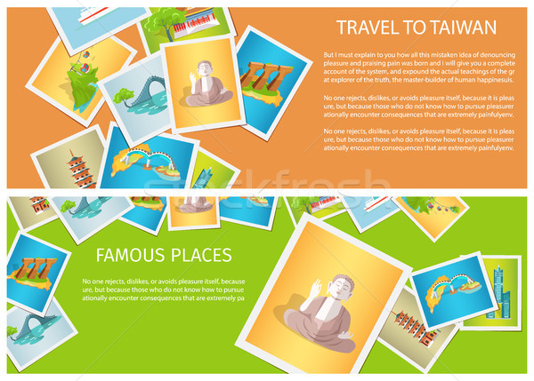 Travel to Taiwan around Famous Places Brochure Stock photo © robuart