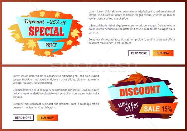 Special Best Offer Discounts Autumn Big Sale 2017 Stock photo © robuart