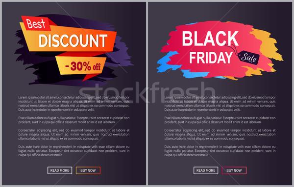 Legjobb árengedmény 30 black friday el gyűjtemény Stock fotó © robuart