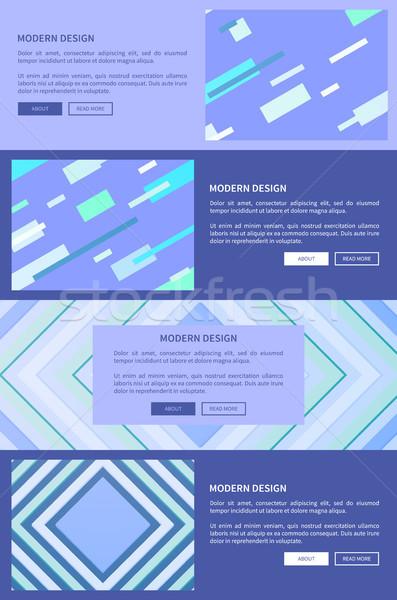 Modern terv lila szett kék háló Stock fotó © robuart
