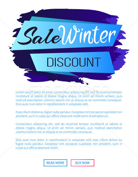 Sale Winter Discount Inscription on Ribbon Poster Stock photo © robuart