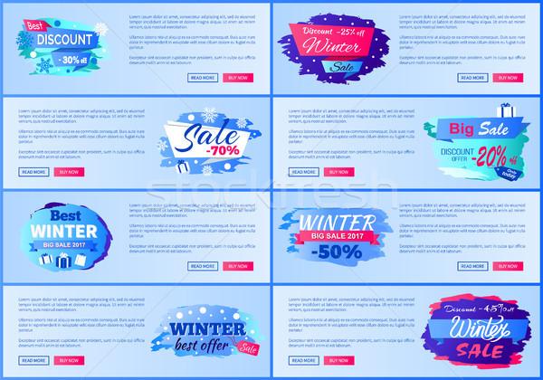 Best Discount -30 Winter Sale Vector Illustration Stock photo © robuart