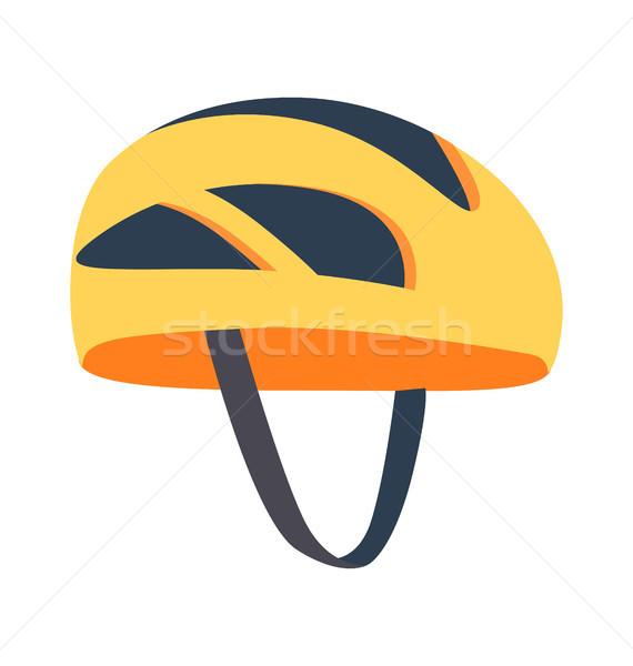 Cute lumineuses casque modèle jaune différent Photo stock © robuart