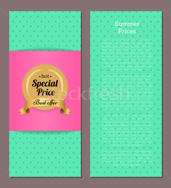 Hot Special Price Best Offer Summer Advertisement Stock photo © robuart