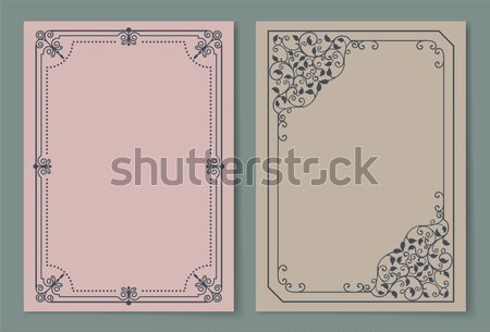 Two Photoframes with Decor Elements at Each Corner Stock photo © robuart