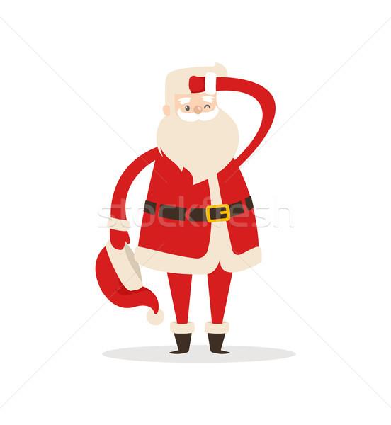 Cute Santa Claus Light Icon Vector Illustration Stock photo © robuart