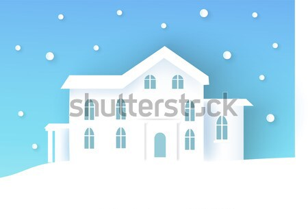 Church with Big Bell Poster Vector Illustration Stock photo © robuart