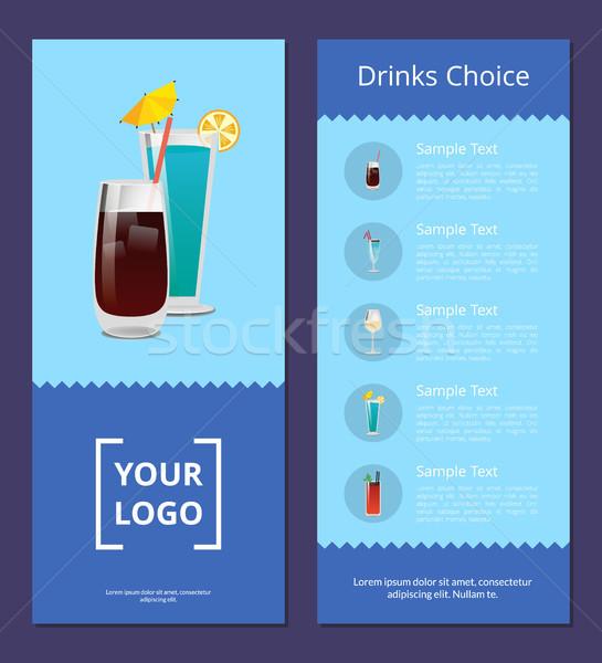Bevande scelta cocktail Pubblicità poster menu Foto d'archivio © robuart