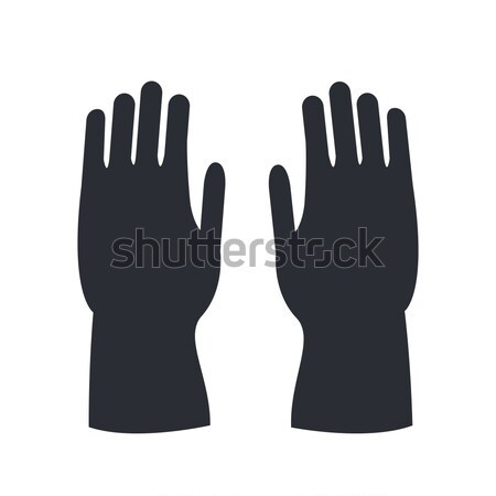 Fire Protective Rubber Gloves Isolated on White. Stock photo © robuart