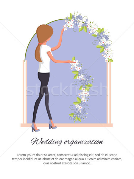 Wedding Organization Poster Vector Illustration Stock photo © robuart