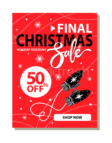 Final Navidad venta cartel vacaciones descuento Foto stock © robuart