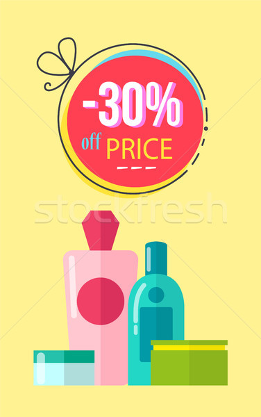 -30 Off Price Poster Make Up Vector Illustration Stock photo © robuart