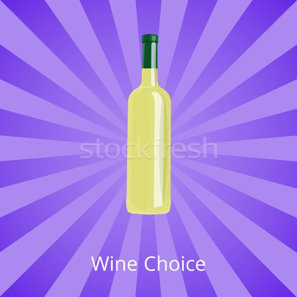 Vino elección botella vino blanco aislado Foto stock © robuart