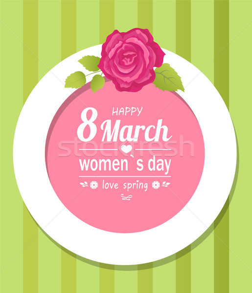 8 March Womens Love Spring Decorative Frame Rose Stock photo © robuart
