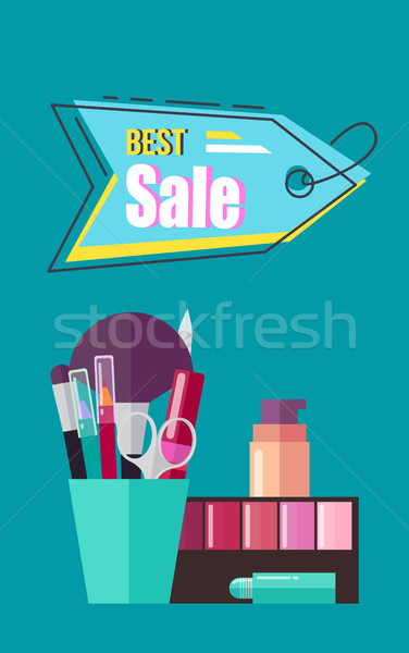 Best Sale Poster with Cosmetic Vector Illustration Stock photo © robuart
