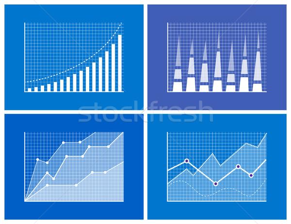 Business Chart Information Vector Illustration Stock photo © robuart