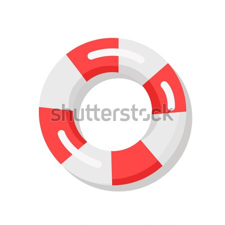 Banner Depicting Red and White Lifebuoy Stock photo © robuart