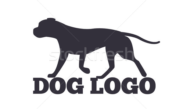 Dog Logo Design Canine Animals Silhouettes Stock photo © robuart