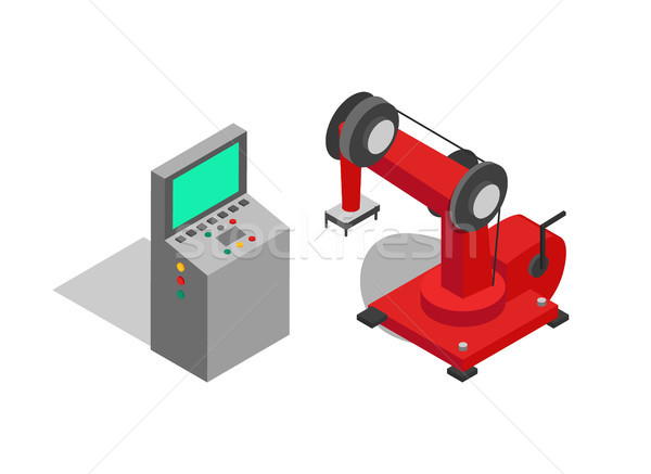 Remote Controller and Red Machine Vector Poster Stock photo © robuart