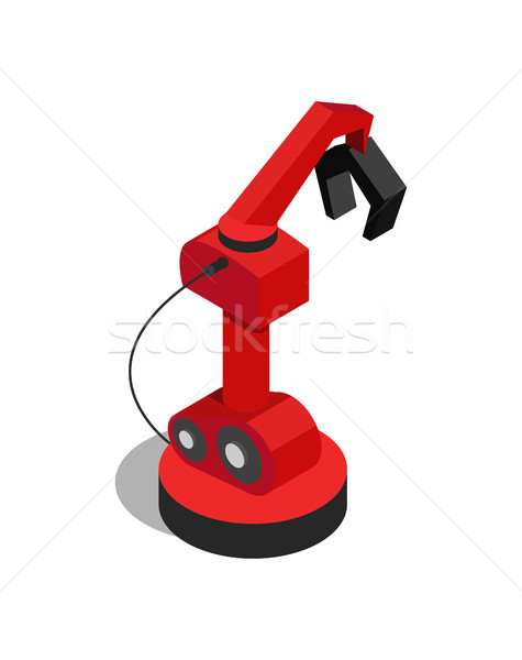 Mechanical Arm with Pliers Vector Illustration Stock photo © robuart