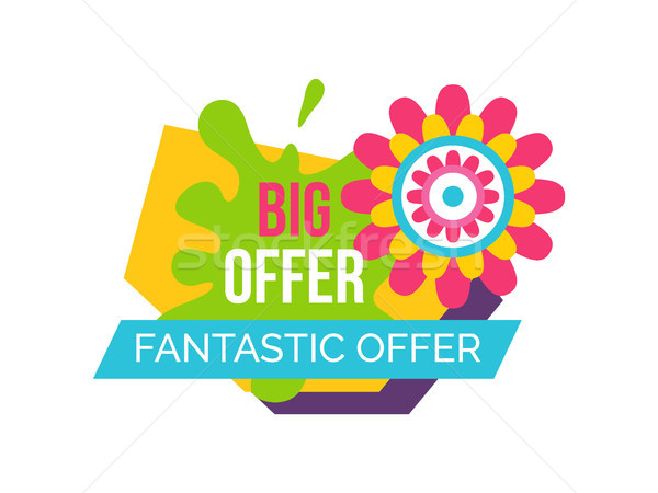 Fantastic Offer Springtime Label Abstract Flower Stock photo © robuart