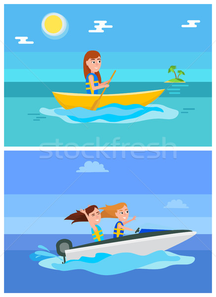 Summer Hobby and Sport Set Vector Illustration Stock photo © robuart
