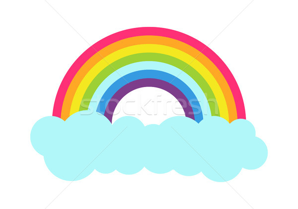 Princess Party Rainbow Poster Vector Illustration Stock photo © robuart