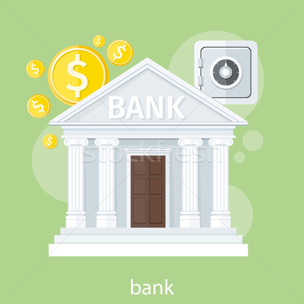 Bank office symbol Stock photo © robuart