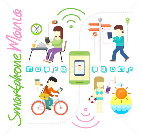 スマートフォン ソーシャルメディア マニア 現代 技術 ストックフォト © robuart