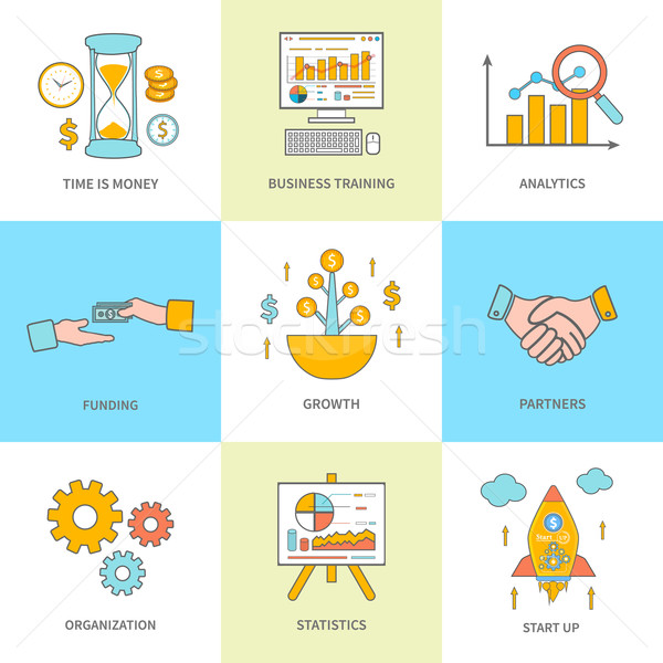 Growth and start up concepts icons Stock photo © robuart