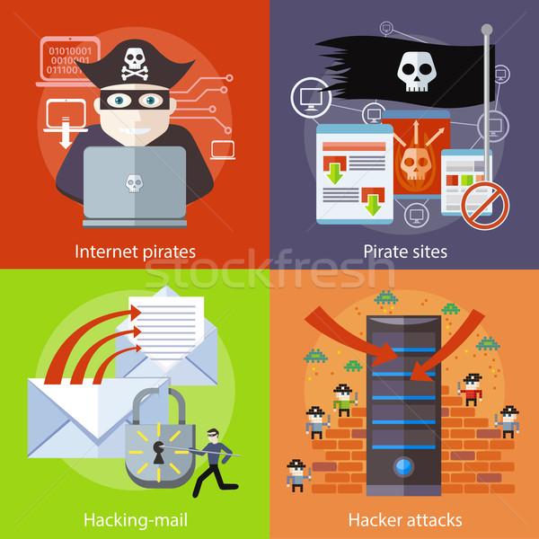 Hacker Internet korsan etkinlik Stok fotoğraf © robuart