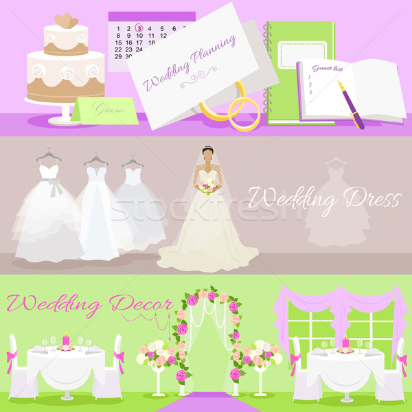 Mariage planification robe événement Photo stock © robuart