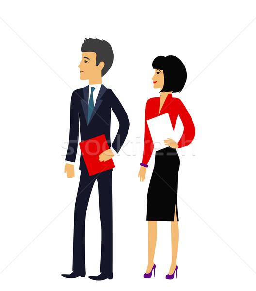 Masculina femenino oficina icono gente de la oficina Foto stock © robuart