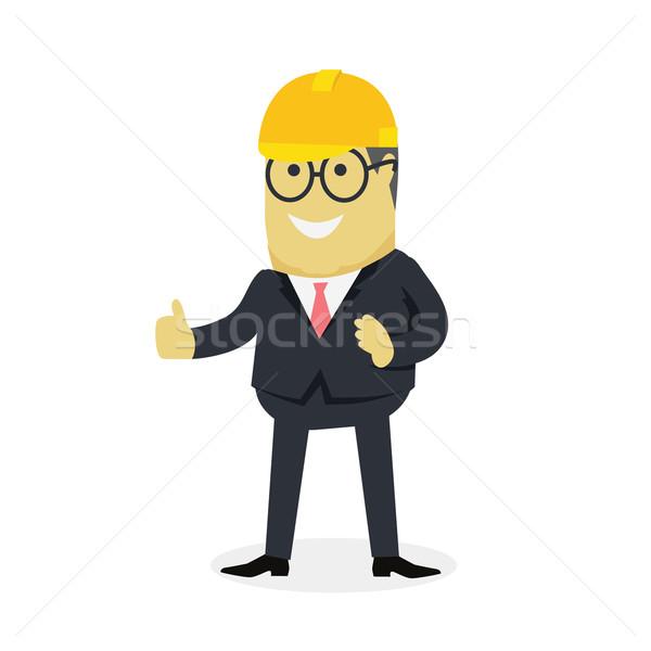 Pokaż gest kciuk w górę młodych udany Zdjęcia stock © robuart