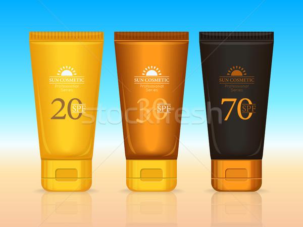 Słońce kosmetyki zawodowych opalenizna zestaw 20 Zdjęcia stock © robuart