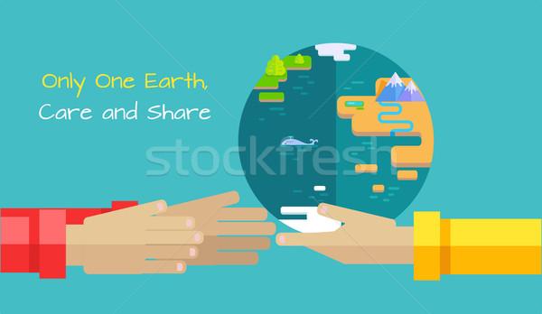 Speichern Planeten Erde Vektor Design ein Erde Stock foto © robuart