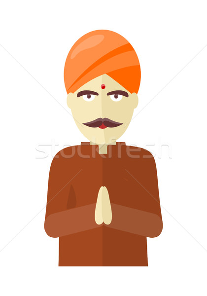 Indian Man Isolated on White Background. Stock photo © robuart
