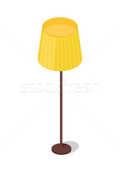 Yellow Floor Lamp Isolated on White Background. Stock photo © robuart