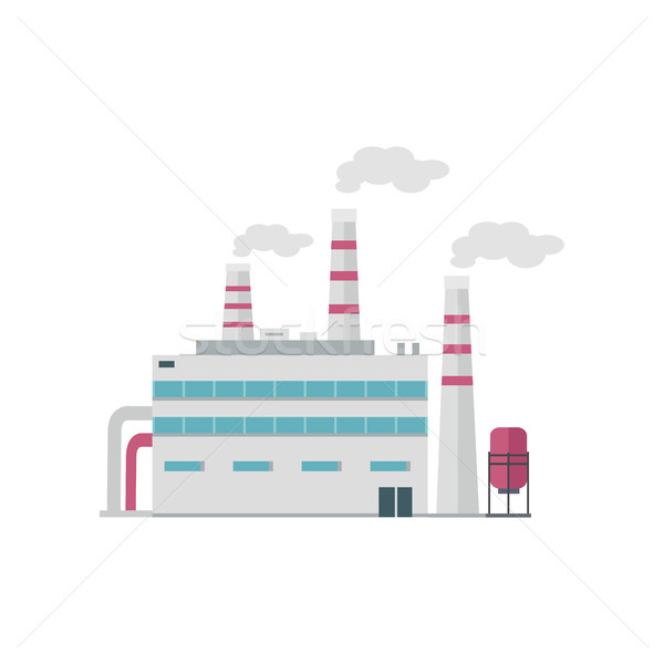 Factory Building in Flat Stock photo © robuart