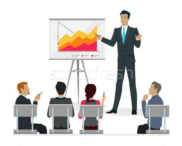 Mistrz klasy szkolenia pracowników krótki Zdjęcia stock © robuart