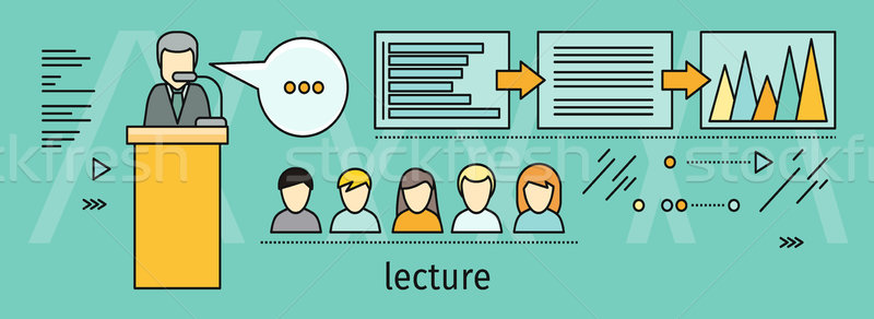 Lecture Concept Vector Illustration In Flat Style Stock photo © robuart