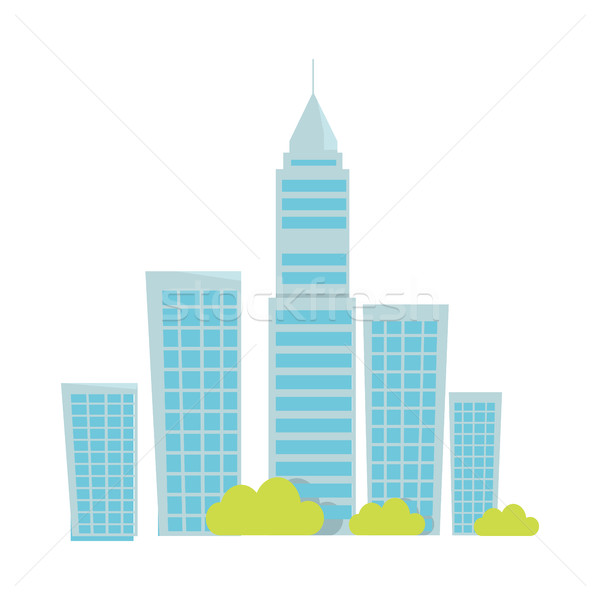 Stock photo: City Buildings Vector Illustration In Flat Design.